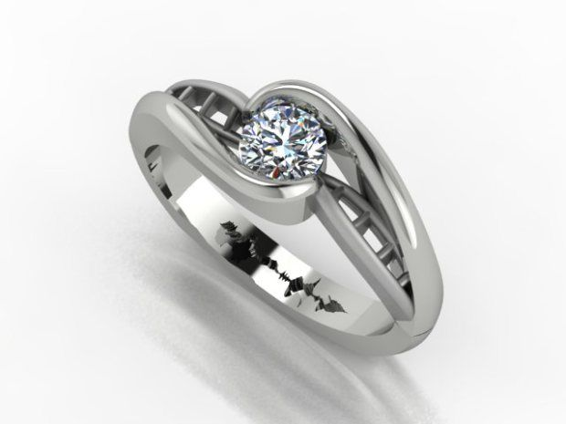 aqyv rings wedding il dna couple au polished bands listing