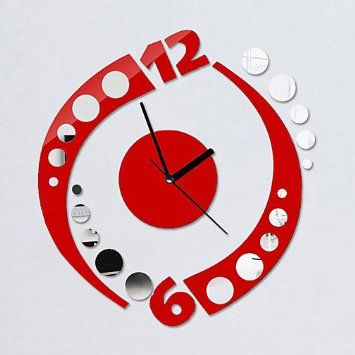 Red Kitchen Wall Clock Find