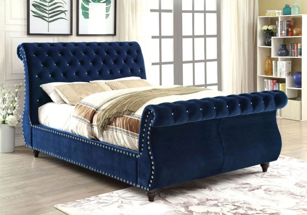 official photos 2d9d7 daeb4 Upholstered Sleigh Beds: Comfortable Elegance | Bedroom ...
