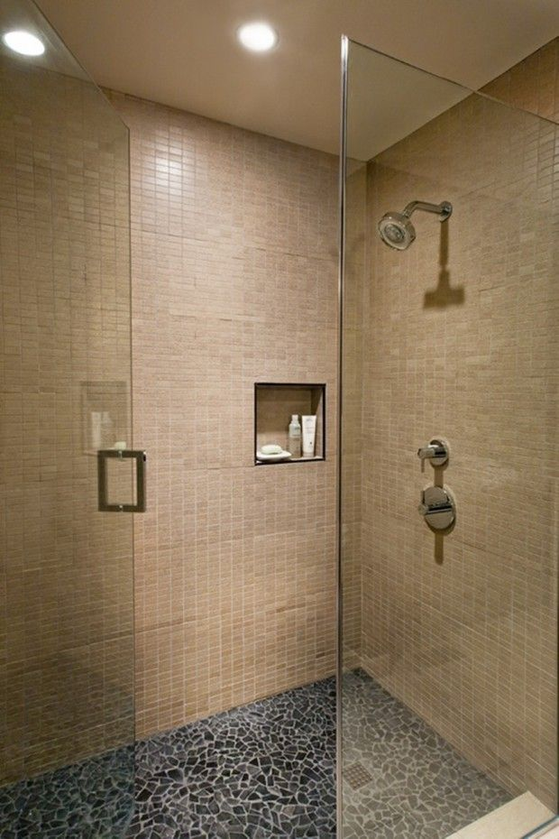 Pebble Tile Shower