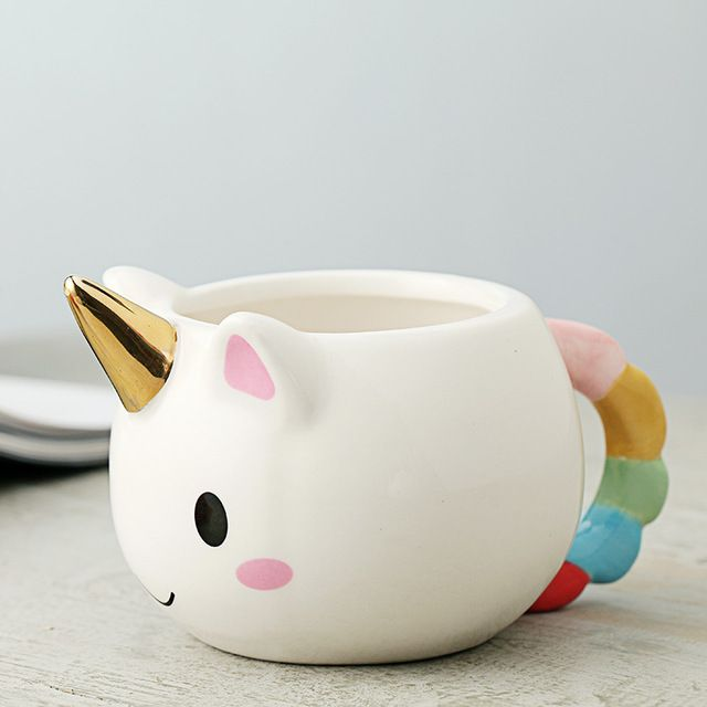 Favori Cartoon Unicorn Mug 3D Ceramic Coffee Cup Children Girl Creative  RH43