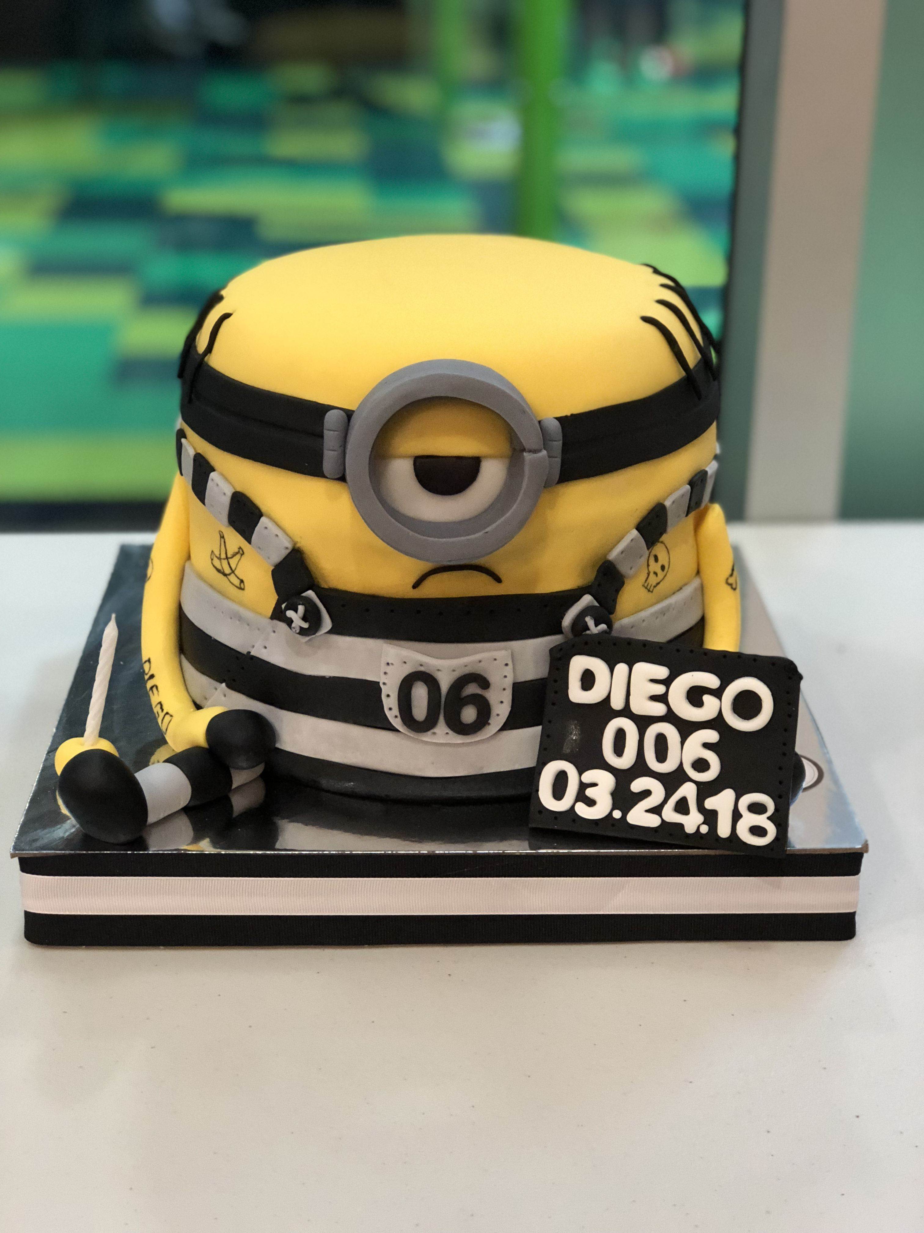 Jail Minion Despicable Me 3 Birthday Cake Minion Movie Diego S 6th