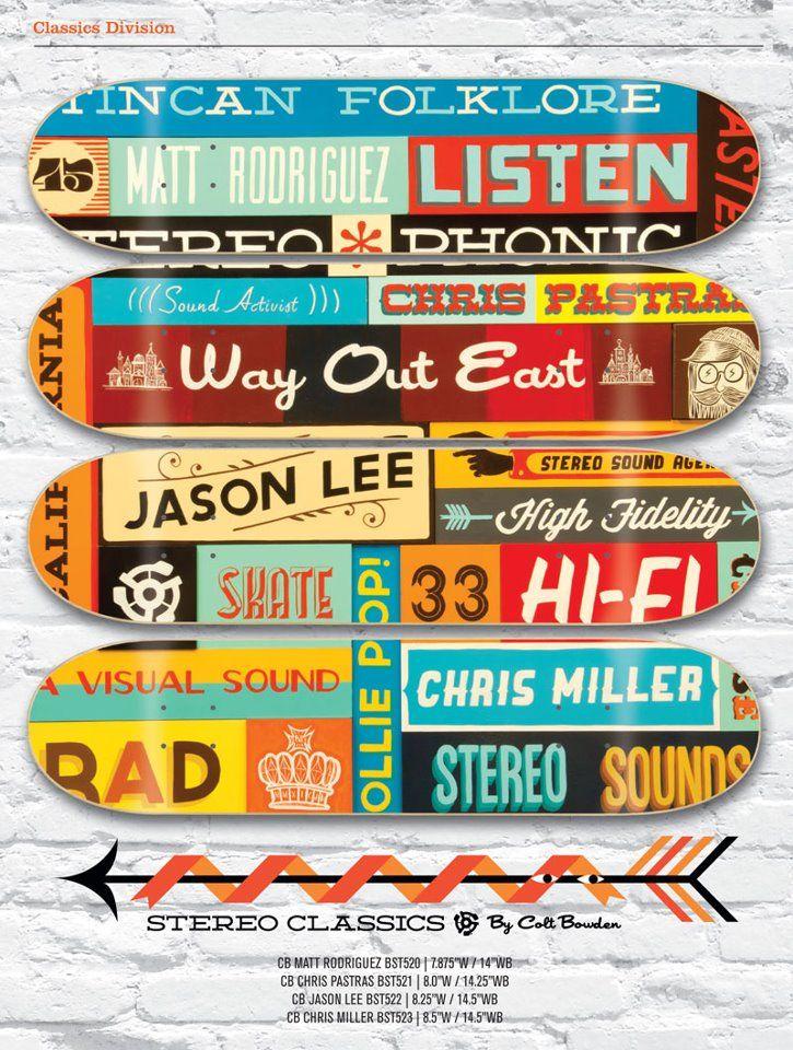 Stereo Skateboards Decks Jason Lee, Chris MIller, Chris Pastras, & more