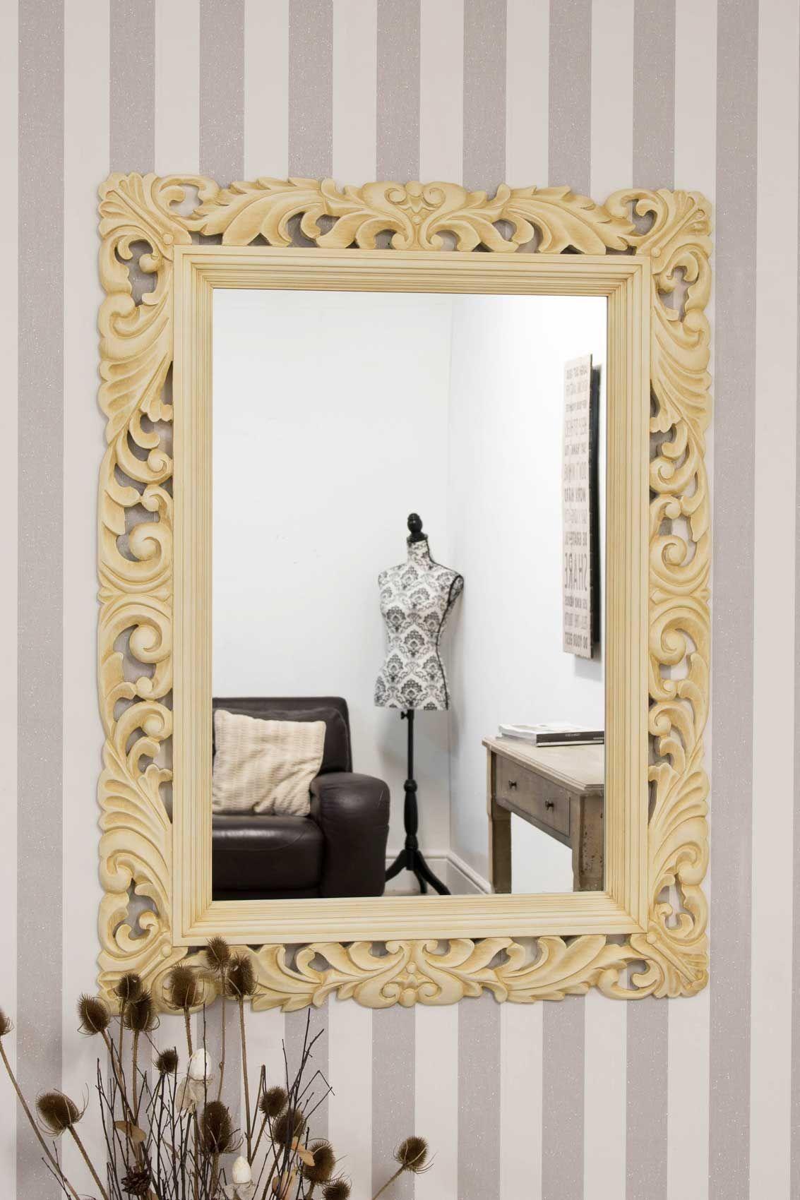 Kensington Carved Cream Wall Mirror 122 x 91cm in 2018   Mirrors ...