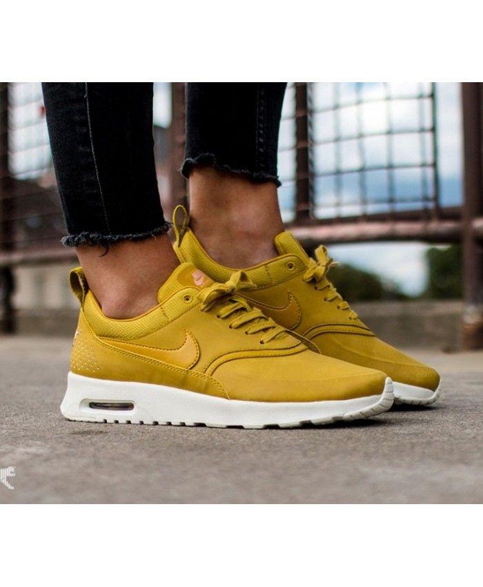 Nike Air Max Thea Premium Dark Citron Clearance | zapatillas