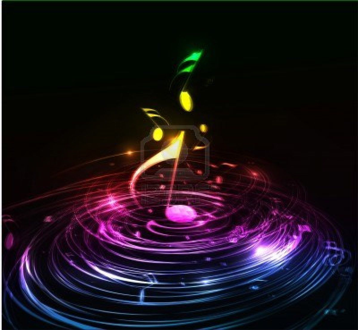 3D Colorful Music Notes Wallpaper Abstract Music Notes