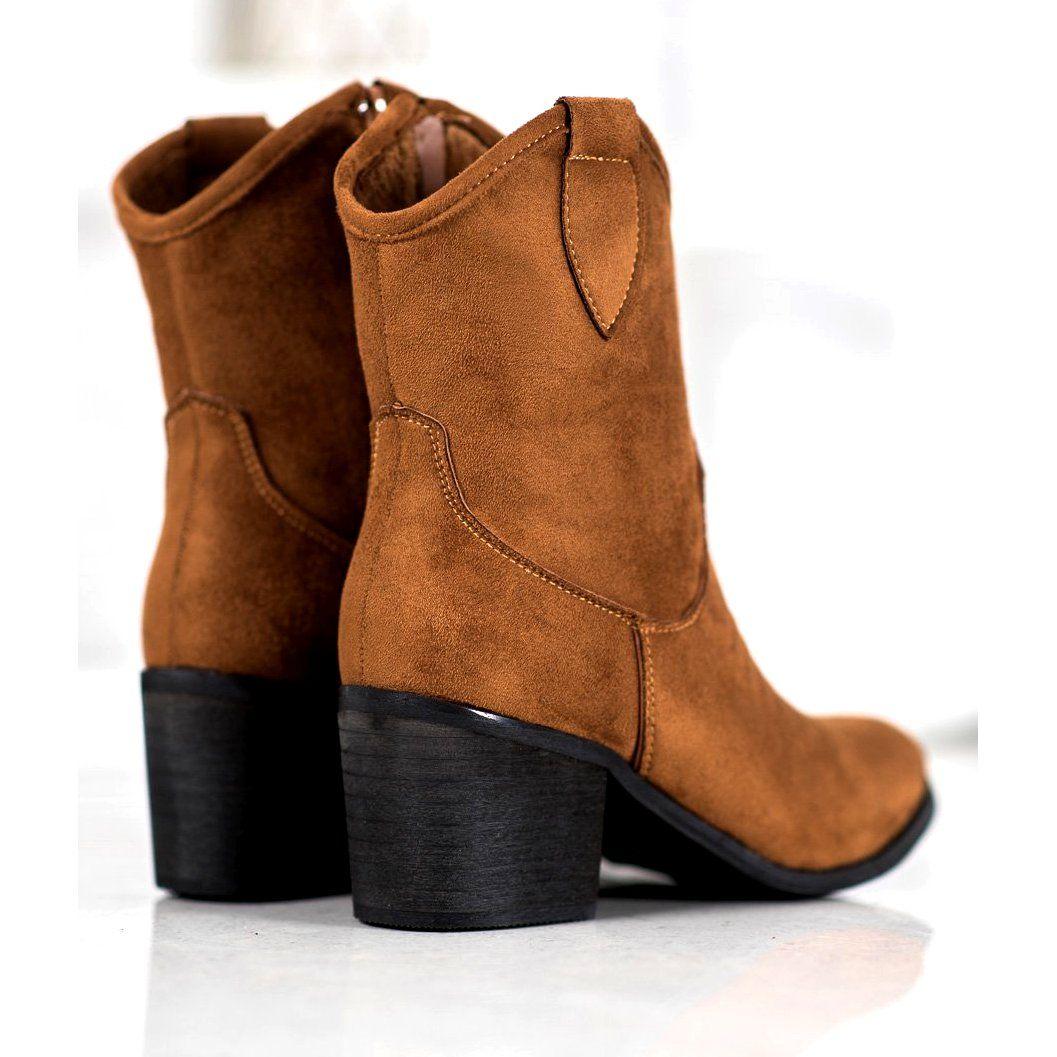 Super Mode Brazowe Kowbojki Boots Brown Cowboy Boots Womens Boots