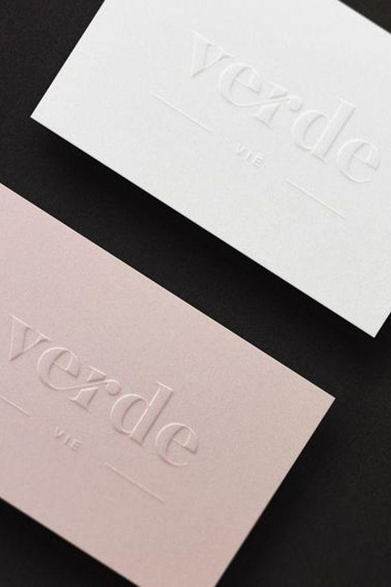Tarjetas De Visita Embossed Business Cards Letterpress Business Cards Name Card Design