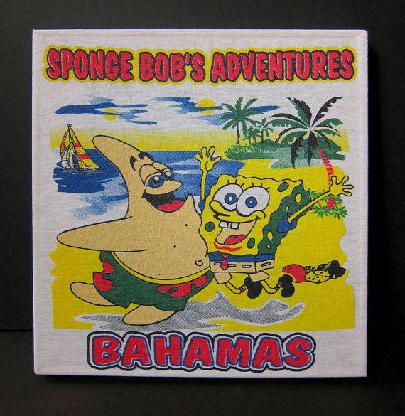 SpongeBob Square Pants bootleg Bahamas T-shirt transformed into a ...