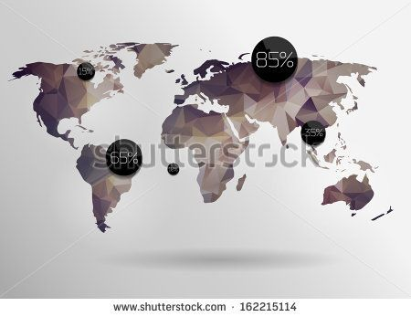 Modern elements of info graphics world map and typography stock modern elements of info graphics world map and typography stock vector gumiabroncs Image collections