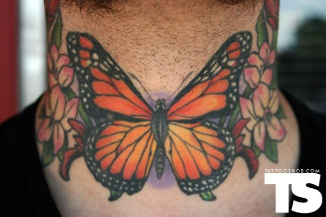 Butterfly Tattoo Front Neck Tattoo Neck Tattoo Butterfly Neck Tattoo