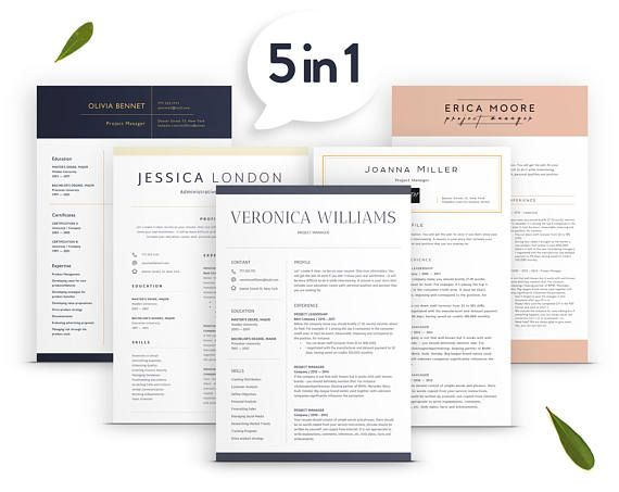 Creative Resume Template, Cv Templates, Professional and Modern - download resume template