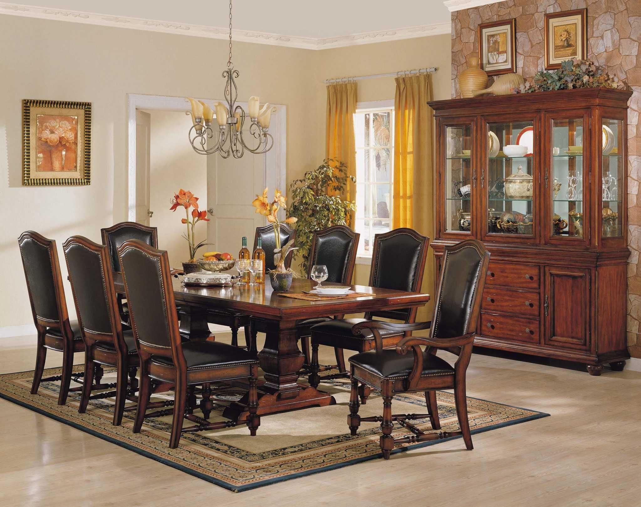 Leder Holz Stühlen   Dining room table set, Dark wood dining table ...