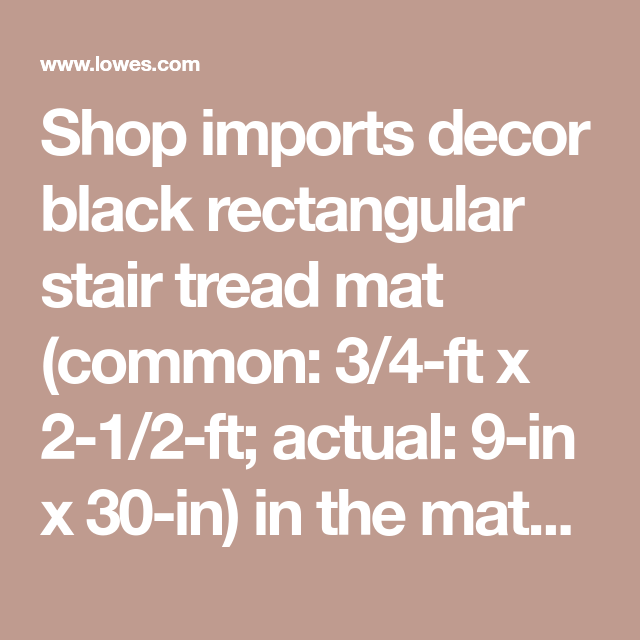 Best Shop Imports Decor Black Rectangular Stair Tread Mat 640 x 480