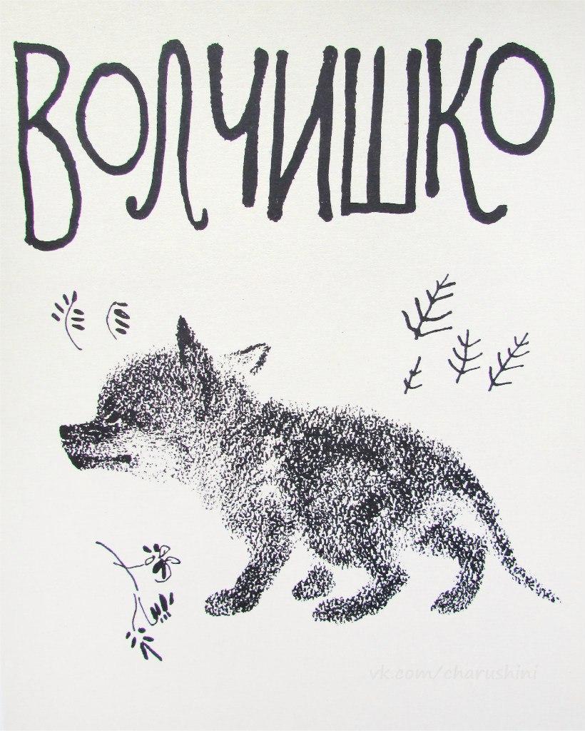 Книга с картинками чарушина-волчишко