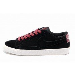 the latest d2219 41b04 Online Nike blazer low femme trainers suede vt noir-bordeaux Foot Locker Pas  cher