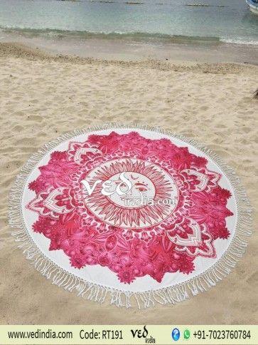 eafa044de3089 Bohemian Round Mandala Tassel Tapestry Hippie Roundie Sun Beach Towel  Picnic Blanket Wall Hanging Tablecloth