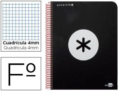 BLOC ESPIRAL LIDERPAPEL A4 MICRO ANTARTIK TAPA FORRADA 120 H 100G LISO CON BANDAS 4 TALADROS COLOR BLANCO