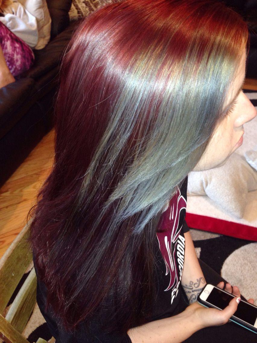 Silver Streak In Red Hair Light Hair Color Hair Streaks Hair