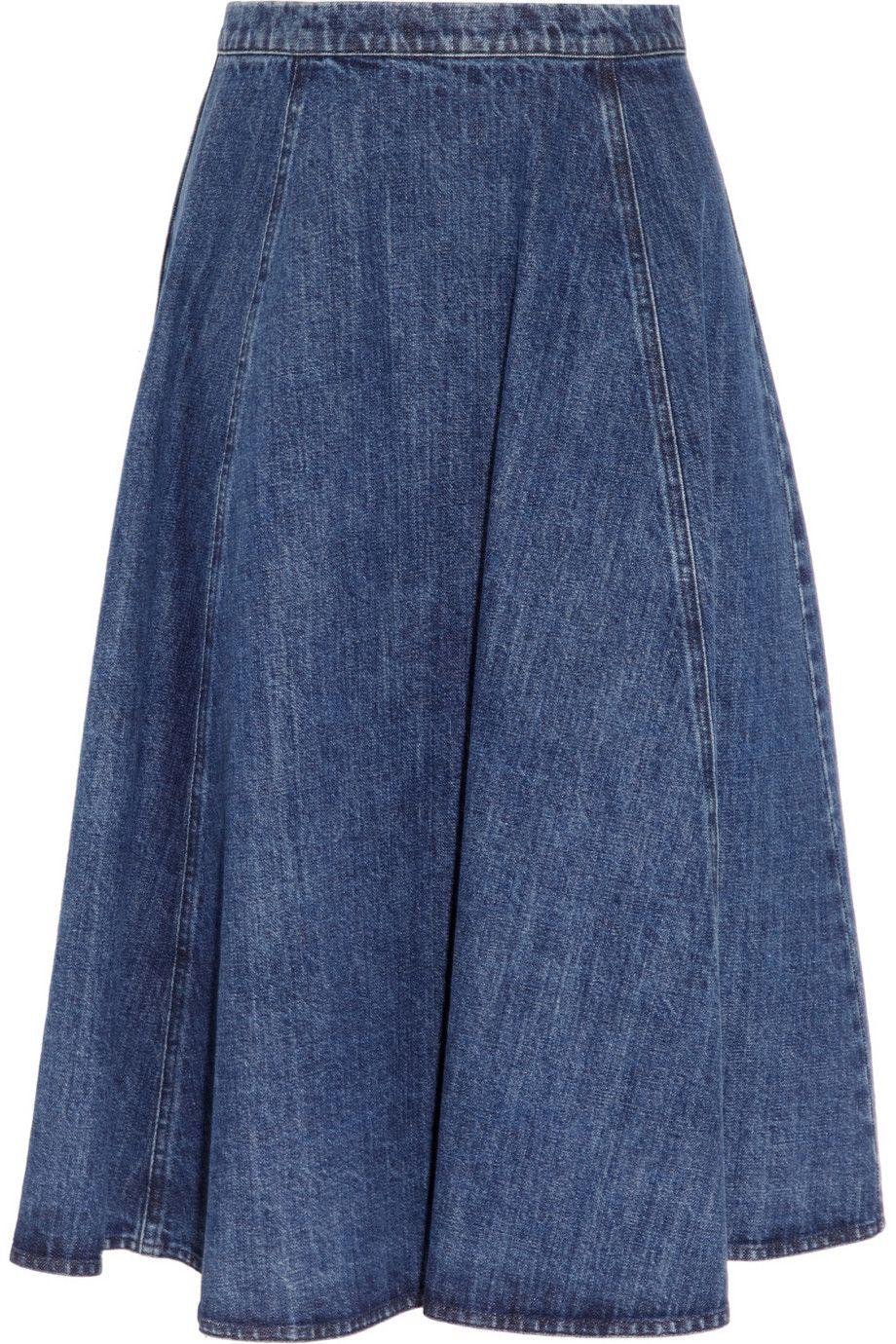 michael kors flared denim skirt aphrochic what to wear