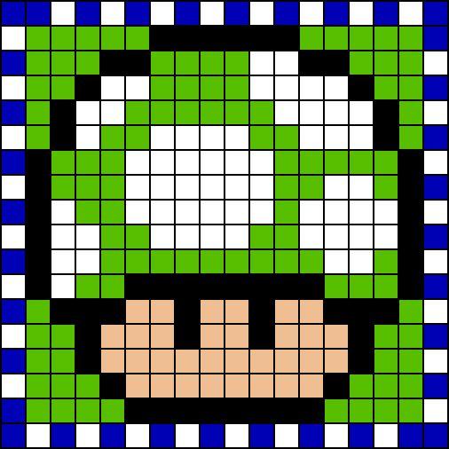 Seta Verde Mario Bros Dessin Pixel Pixel Art Loisir