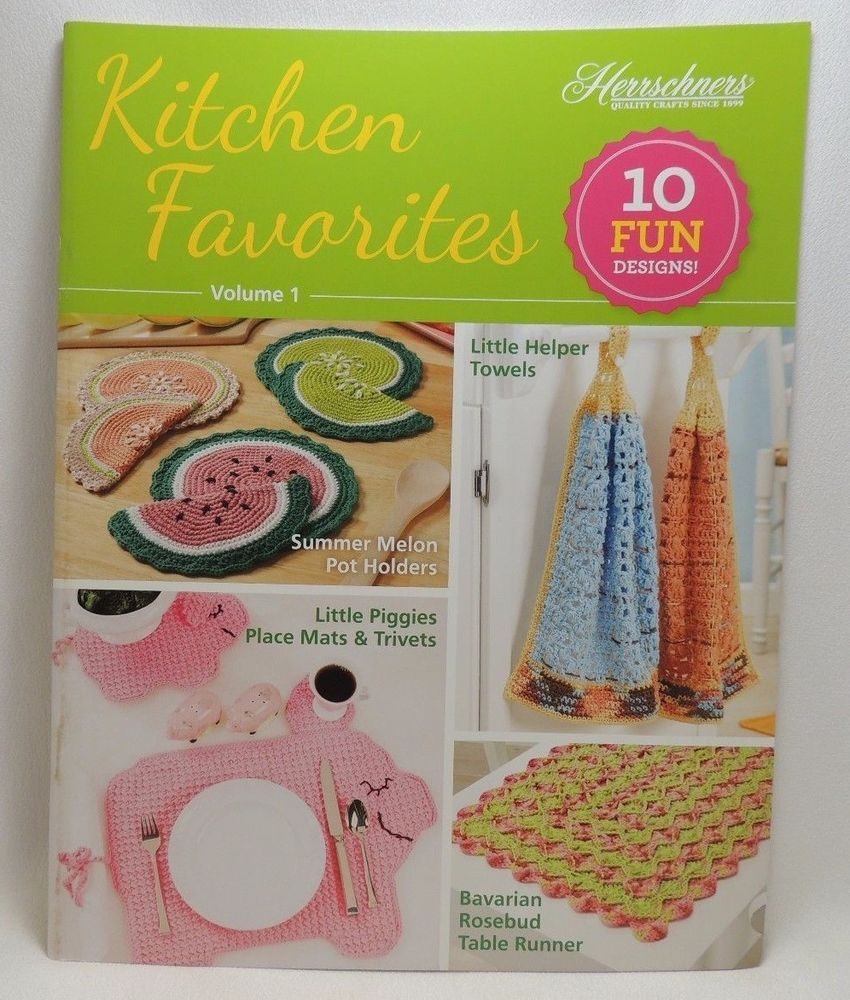 Kitchen favorites to crochet pattern book 10 designs vol 1 kitchen favorites to crochet pattern book 10 designs vol 1 herrschners new herrschners bankloansurffo Image collections