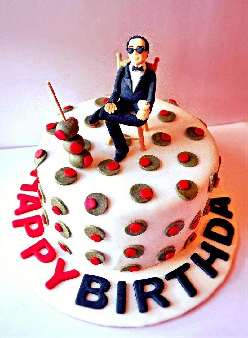 Mad Men Cake Mid Century Modern Birthday Fondant