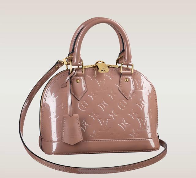 643ee2abc649 Louis Vuitton Alma BB Vernis in Rose Velours