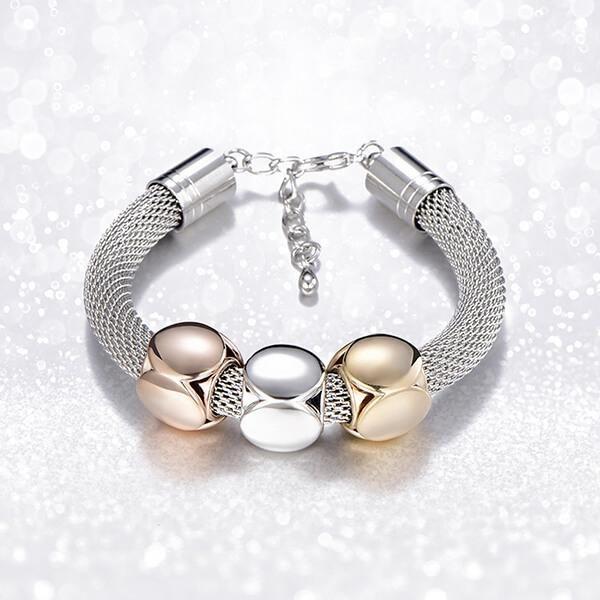 Cube Charms Metal Bracelet Metal bracelets, Bracelets