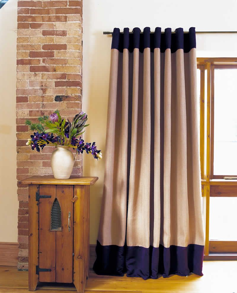 Curtains with Top and Bottom Borders | Sewing | Pinterest | Window ...