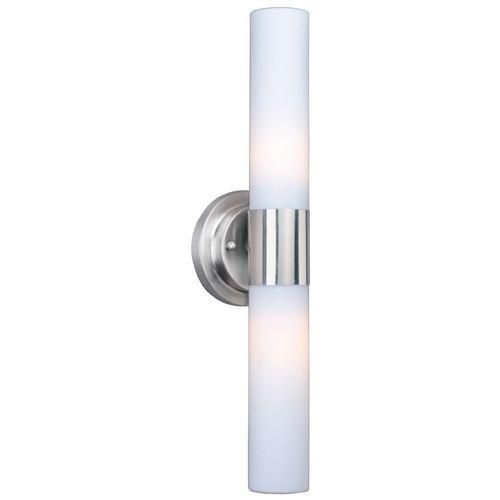 et2 lighting modern vertical bathroom light with white glass in