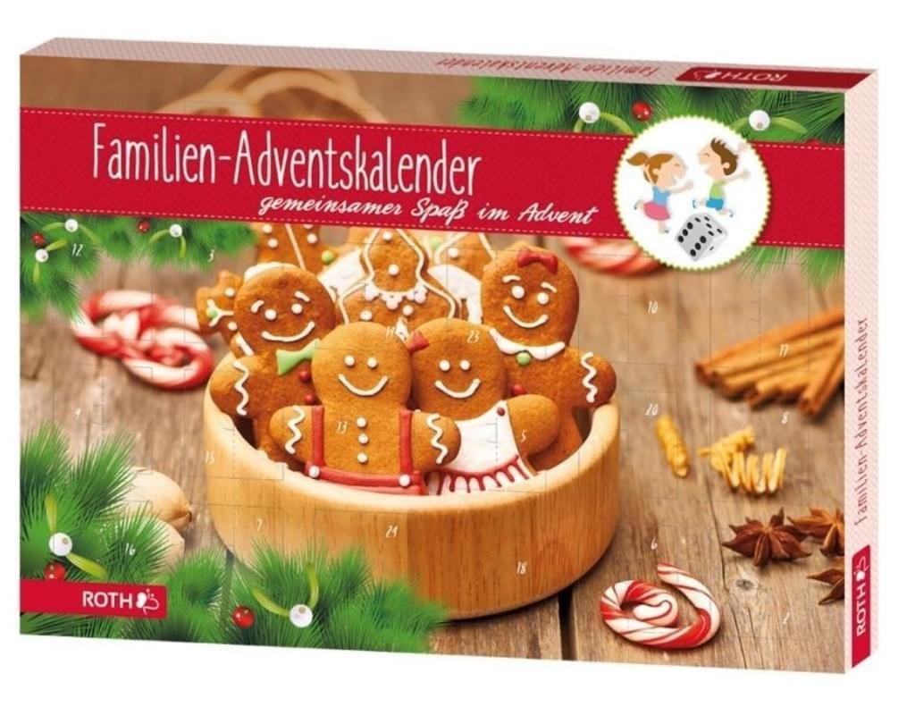 ROTH Familien-Adventskalender aus Pappe bestückt