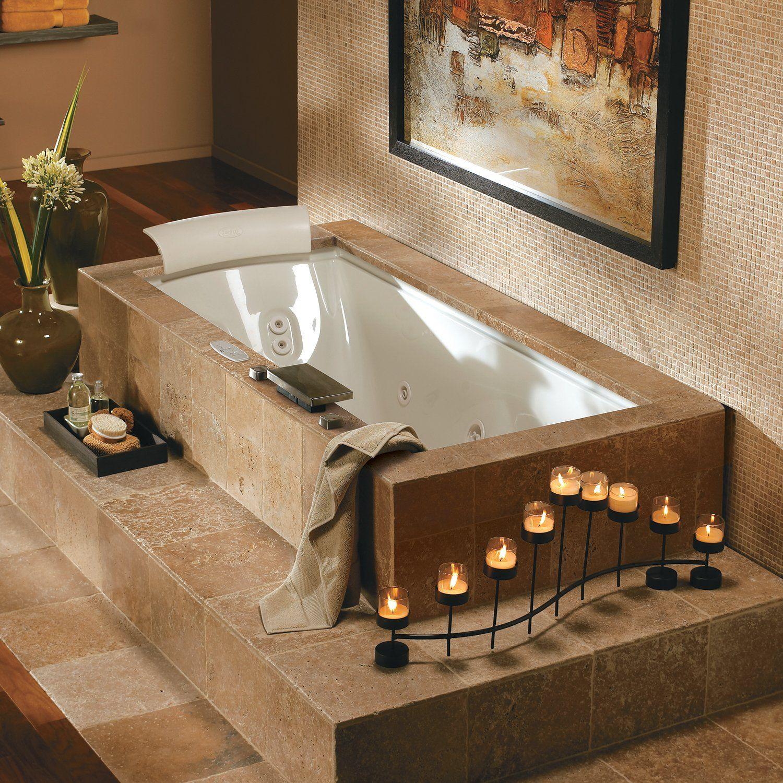 Jacuzzi Whirlpool Fuz7236crl4ch Fuzion Salon Spa Drop In Tub Atg S