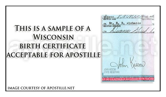 Wisconsin birth certificate for apostille | State of Wisconsin ...