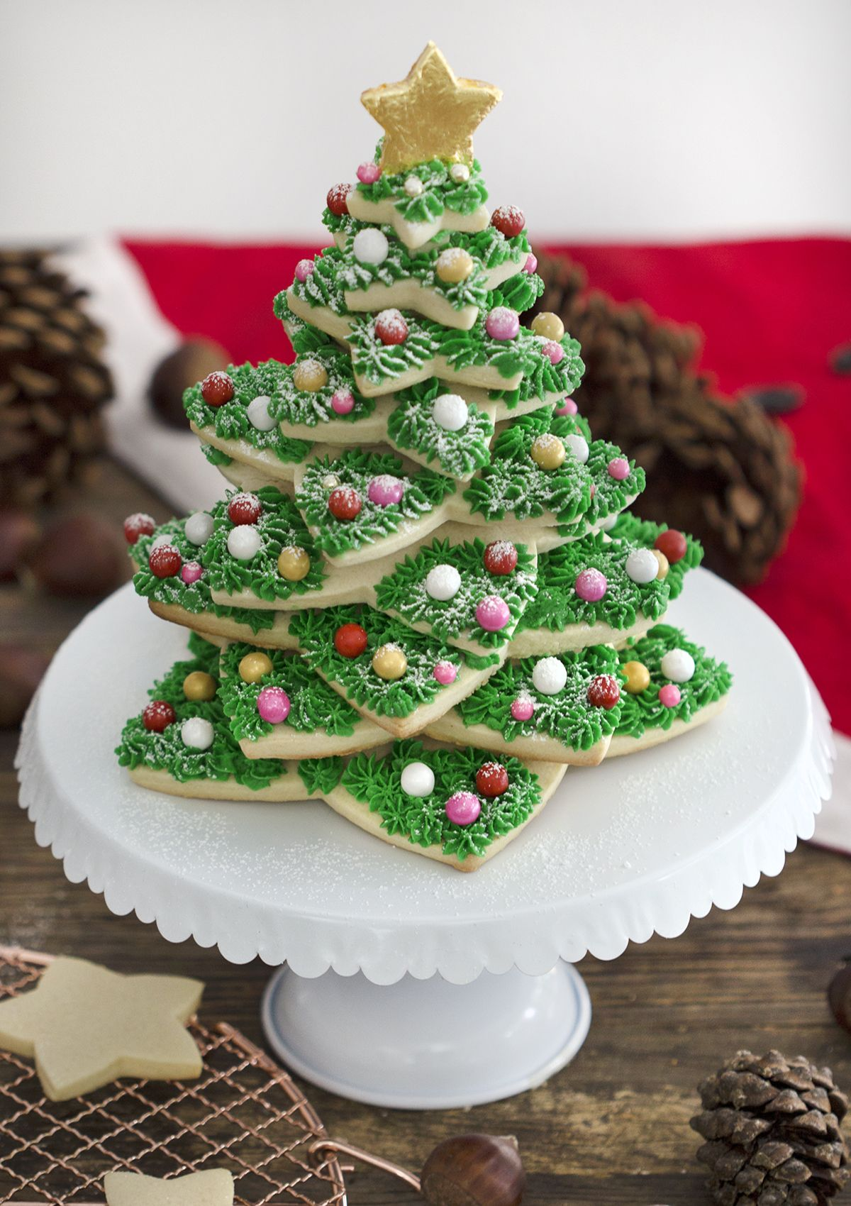 Cookie Xmas Tree By Preppy Kitchen Deserts For My Loves