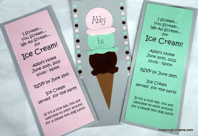 Homemade ice cream birthday invitations homemade 172 and addy homemade ice cream birthday invitations filmwisefo Gallery