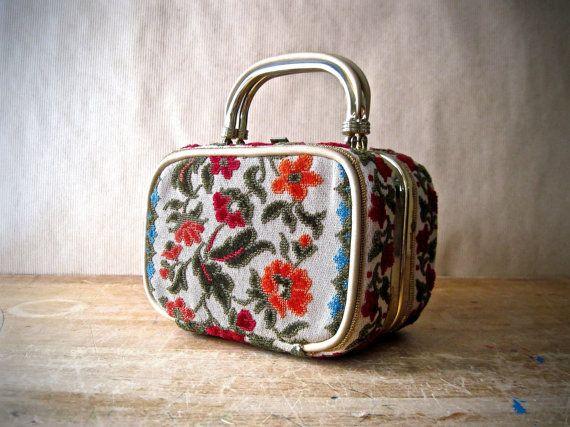 Vintage Tapestry Box Purse Lou Taylor Miami By Rushcreekvintage