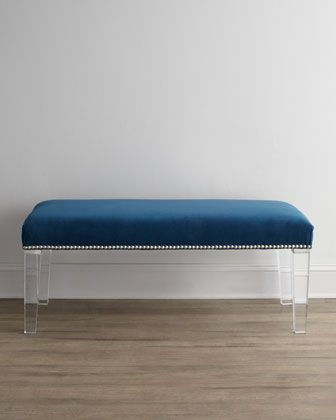 Water\'s Edge 50L Bench   Horchow Now: Blue & White   Bench furniture ...