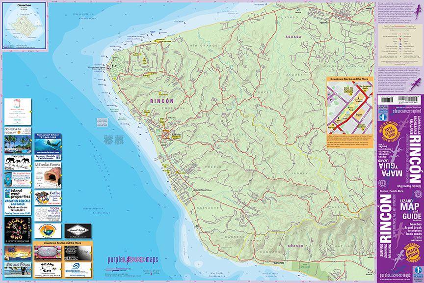 Rincon Puerto Rico Lizard Map Comprehensive Road Map Surf