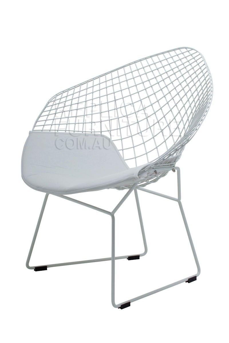 diamond chair replica back support office harry bertoia white retro furniture australia
