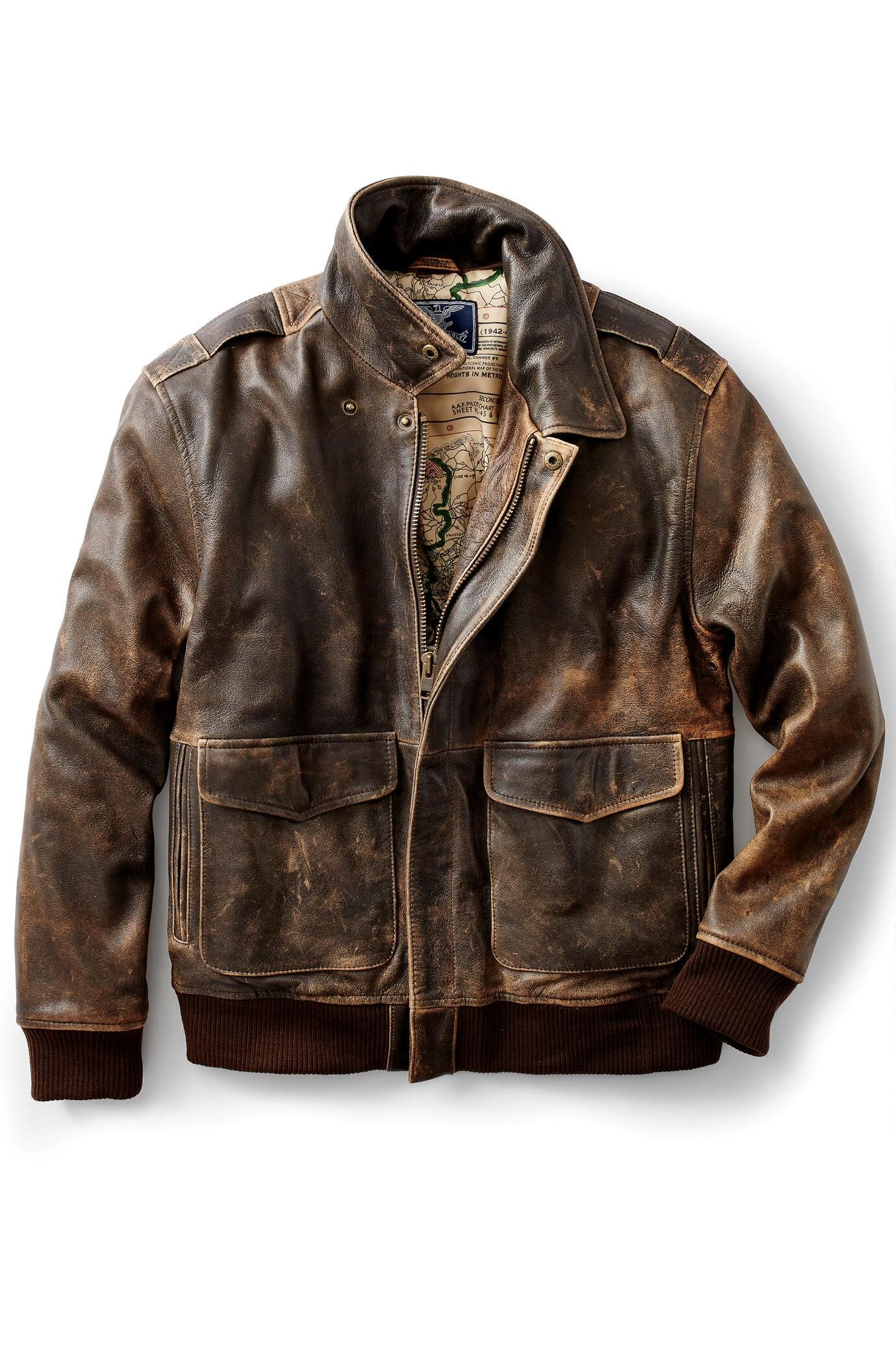 f273db2edc7 A-2 Blue Eagle Leather Bomber from Cockpit®  Exceptional Casual Clothing  for Men   Women from  TerritoryAhead  350.00