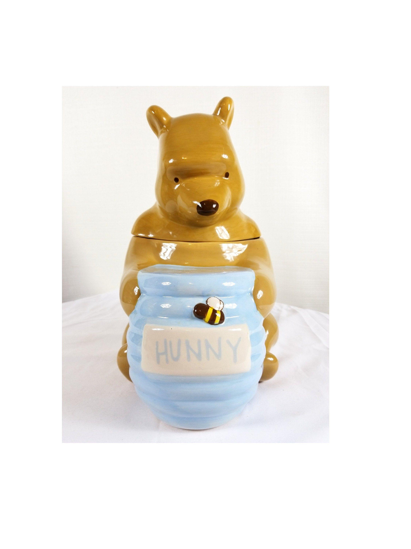Disney Cookie Jar Etsy >> Winnie The Pooh And Hunny Pot Cookie Jar Disney Licensed Rare