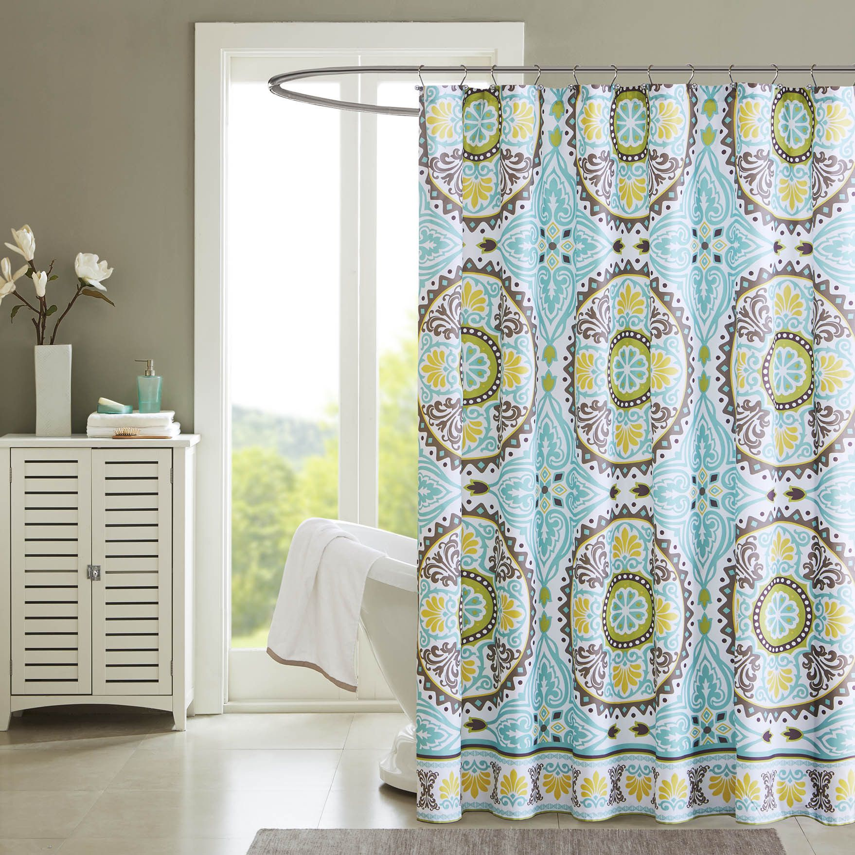 Get A Taste Of Indonesia In Your Bathroom With The Bali Shower Curtain Featuring Dusty