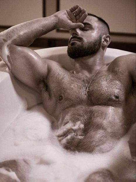 Hairy chest massage