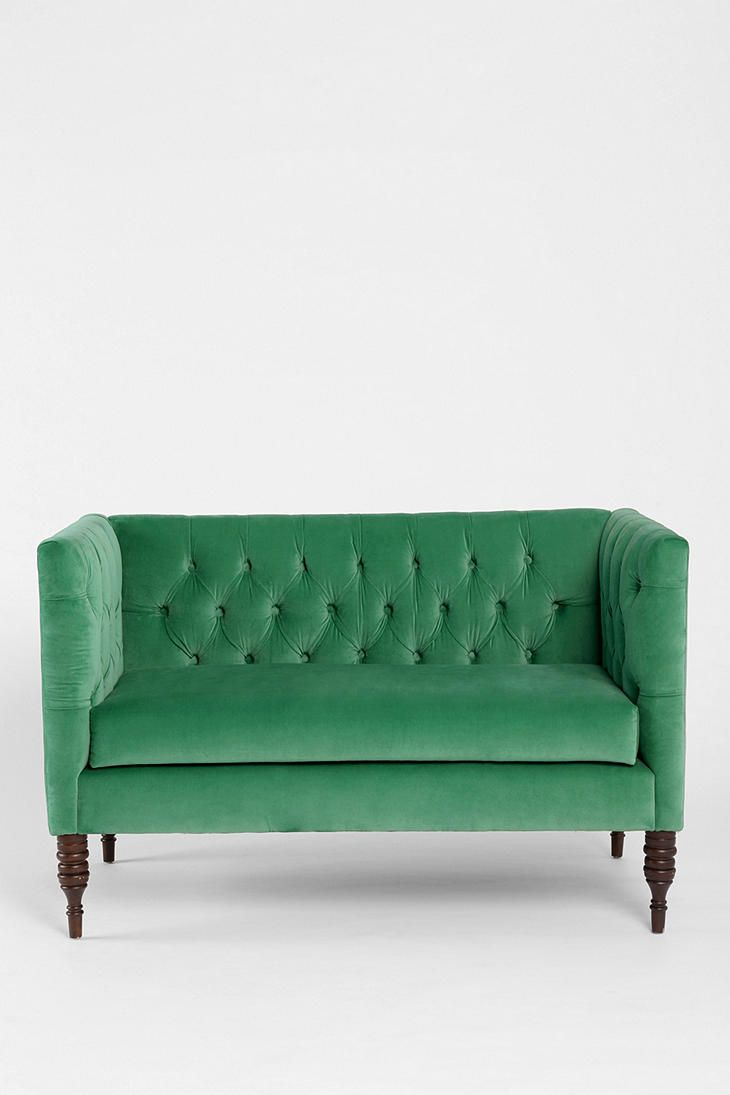 Swell Urban Outfitters Plum Bow Tufted Settee Furnish Machost Co Dining Chair Design Ideas Machostcouk