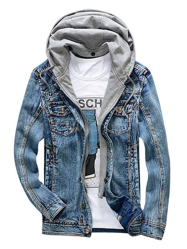 New Spring Men/'s Clothing Young Denim jeans Jacket Slim Fit Jackets coat Outwear