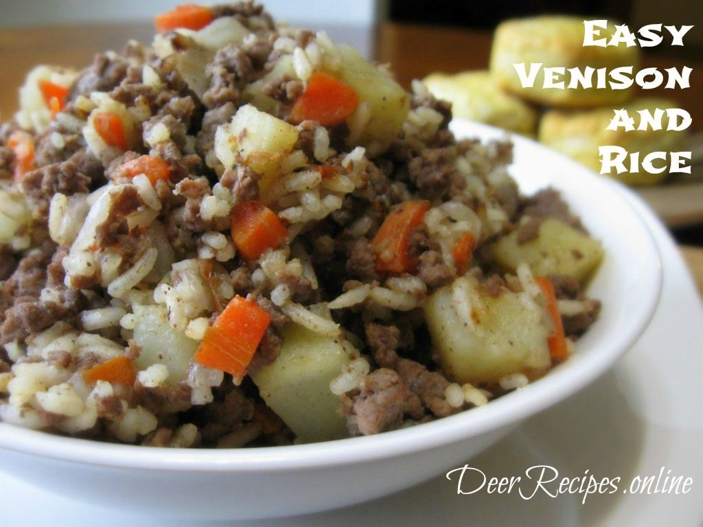 Easy Venison And Rice Recipe Venison Recipes Deer Meat Recipes Venison Recipes Crockpot