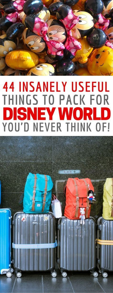 I've never seen a Disney packing list like this one before - so many clever travel hacks! #vacationplacesholidays