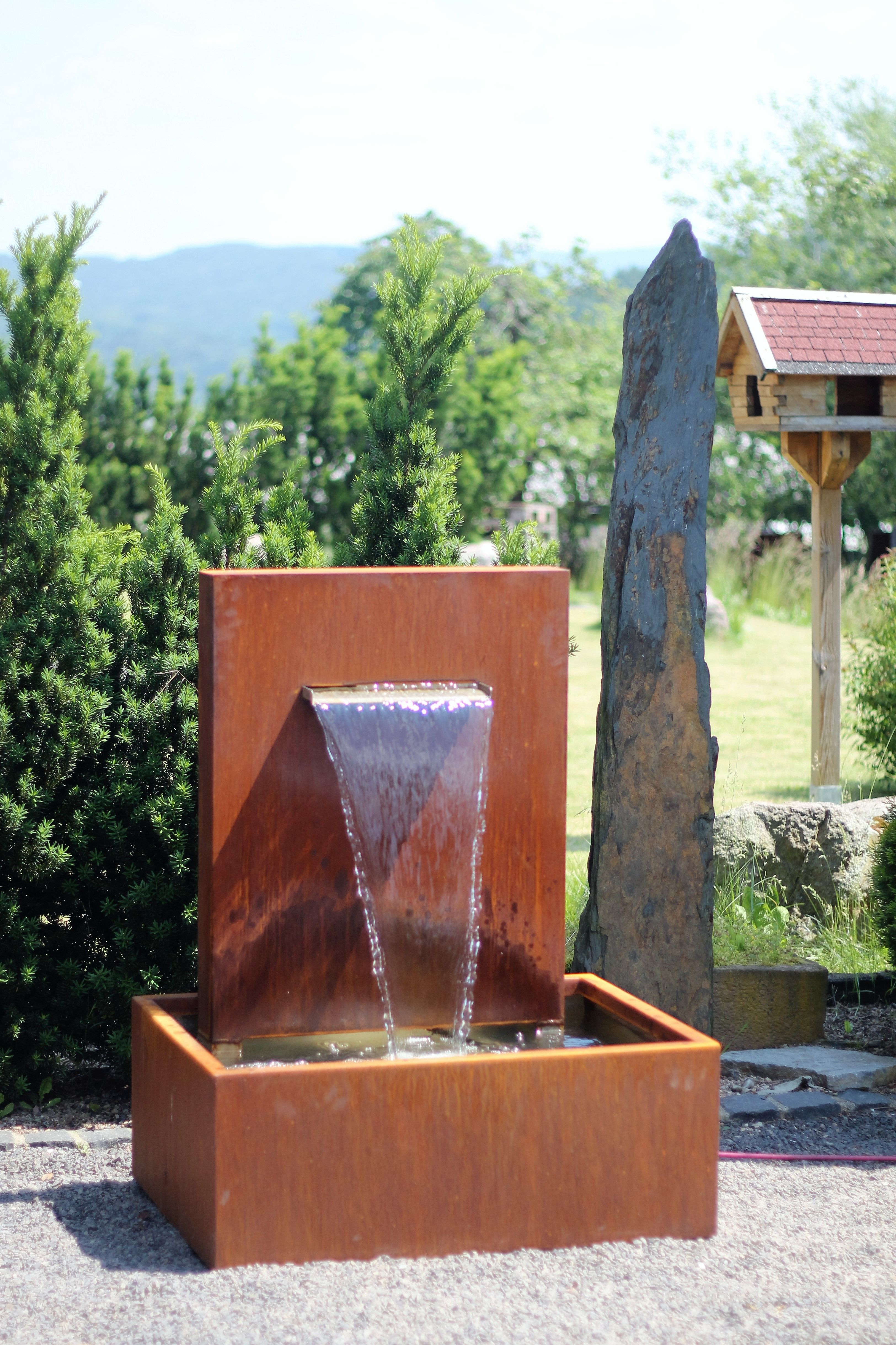 Wasserspiel Cortenstahl Wasserfall 30 Im Edelrost Design Inkl Pumpe Www Brunnenschmiede De Shoplink Http Brunnenk Wasserspiel Garten Gartenbrunnen Edelrost