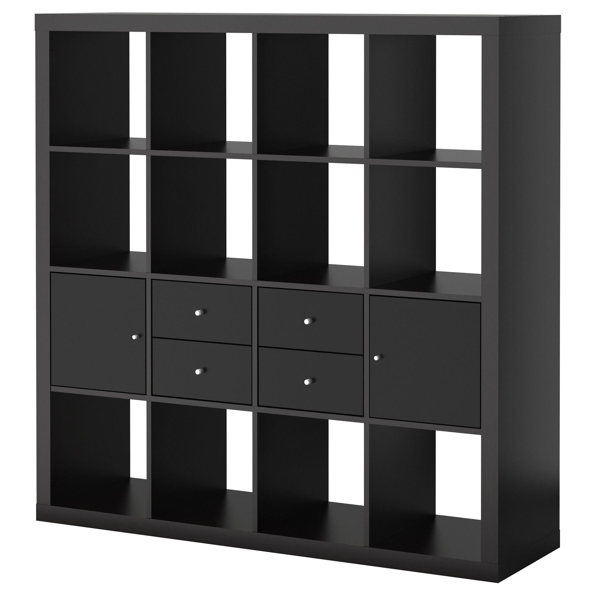 Ladenkast Zwart Ikea.Expedit Opbergcombi Met Deuren Lades Zwartbruin Zwart Ikea